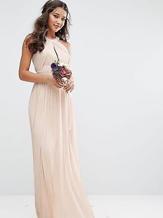 24f8a00776a1 Tfnc Robe longue plissée pour demoiselle dhonneur en exclusivité - Rose ...