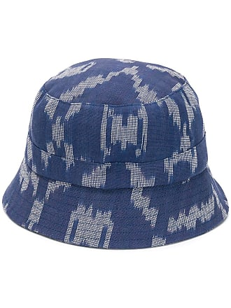 Ymc You Must Create patterned hat - Blue
