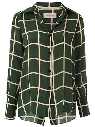 Adriana Degreas Camisa quadriculada de seda - Verde