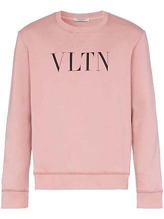Valentino logo print crew neck jumper - Pink