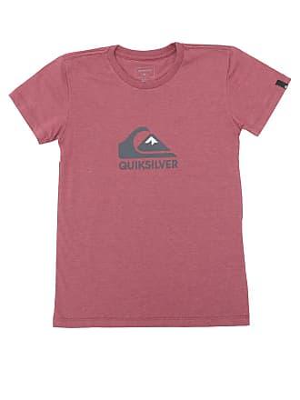 4955c4d28f21a Quiksilver Camiseta Quiksilver Manga Curta Menino Vermelha