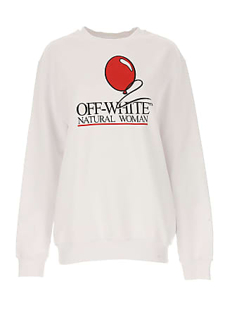 Off-white Sweatshirt for Women On Sale, White, Cotton, 2017, 6