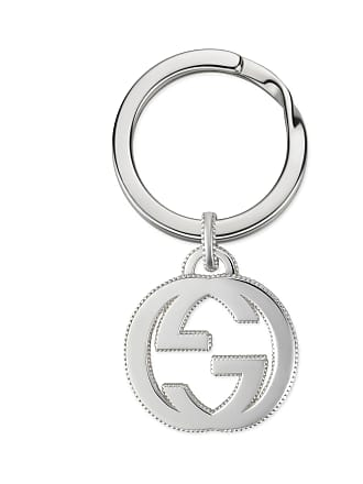 af9794f099be Gucci Interlocking G keychain in silver