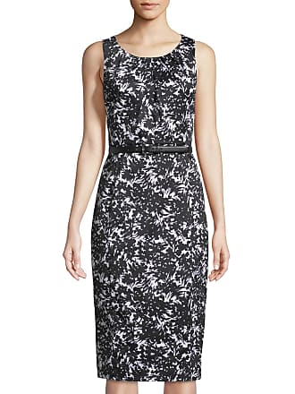 Michael Kors Sleeveless Belted Fl Sa Sheath Dress