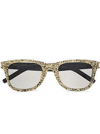 a681e4cdb2a Saint Laurent Saint Laurent Woman D-frame Glittered Acetate Sunglasses Gold  Size