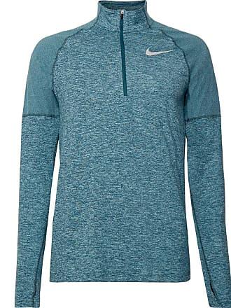 Nike Element Mélange Dri-fit Half-zip Top - Petrol