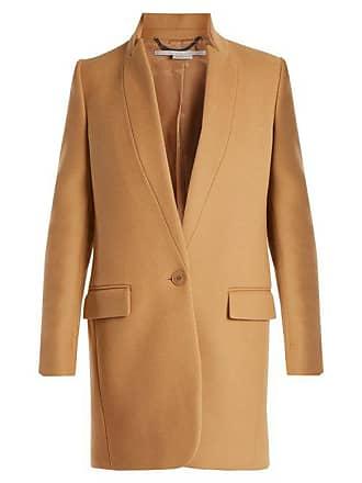 Stella McCartney Stella Mccartney - Bryce Single Breasted Wool Blend Coat - Womens - Camel