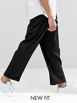 Asos Pantaloni eleganti con fondo ampio neri - Nero fe460a70c91