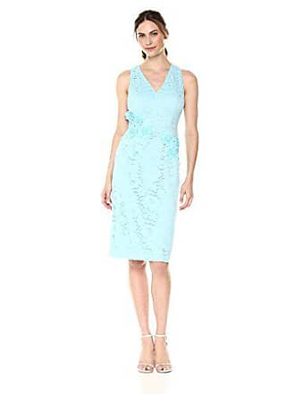 aa8f8363 Maggy London Womens Rose Garden Lace Cocktail Sheath, Powder Blue, 12