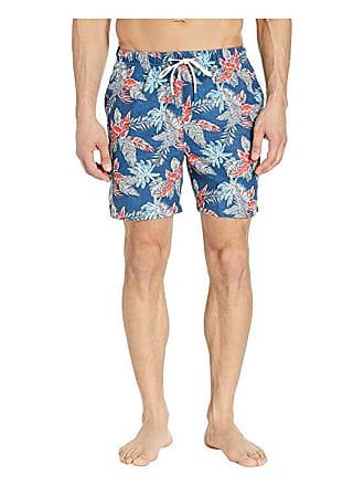 bc0767ddef Tommy Bahama Naples Faded Palms Swim Trunks (Dockside Blue) Mens Swimwear