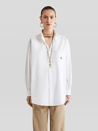 Etro Ge01 Shirt With Embroidered Pegaso, Woman, White, Size XS
