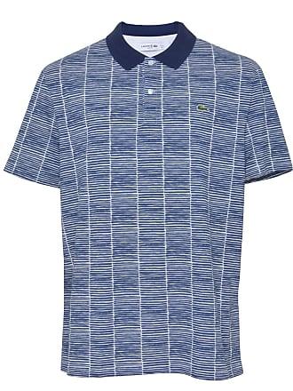 e0798f5ff Lacoste Camisa Polo Lacoste Slim Estampada Branca Azul