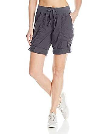 Calvin Klein Performance Womens Rib Waistband Convertible Cargo Bermuda Short 8-12 Inseam, Charcoal, L