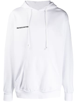 WWWM - What We Wear Matters Moletom com logo e cordão de ajuste - Branco