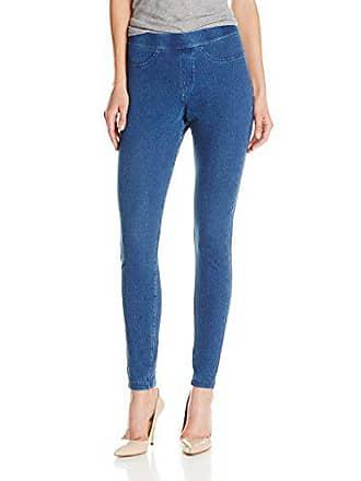 Hue Womens Curvy Fit Denim Jean Leggings, Medium Wash, S