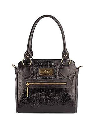 Andrea Vinci Bolsa de couro legítimo Amélia preta