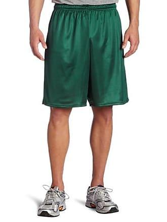 Soffe Mens Long Polyester Mini-Mesh Short Dark Green X-Large