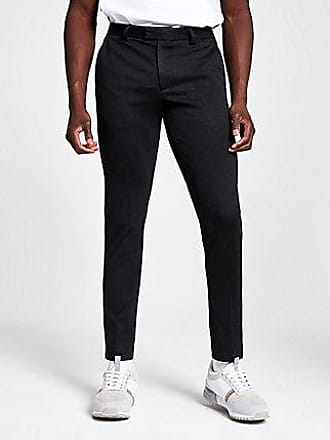 River Island Mens Dark grey skinny suit pants