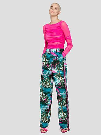 Msgm fringed hawaii pants