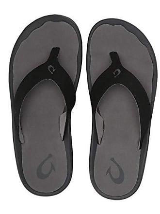 Olukai Ohana Hookahi (Black/Charcoal) Mens Sandals