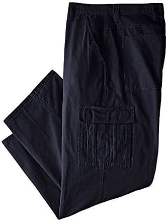 Wrangler Authentics Mens Big & Tall Classic Twill Relaxed Fit Cargo Pant, Navy Ripstop, 46 x 30