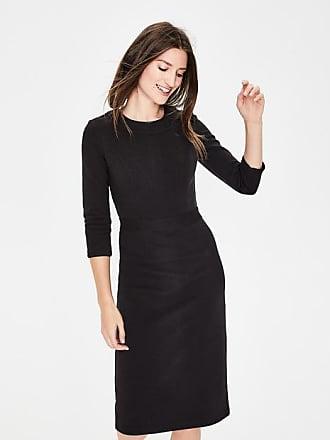 Boden Mia Ottoman Dress Black Women Boden