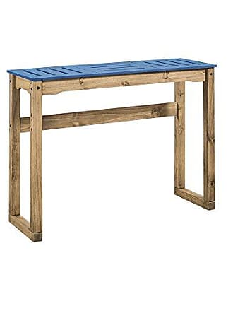 Manhattan Comfort CS105501 Stillwell Bar Table, Large, Blue/Natural Wood