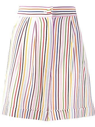 être cécile striped shorts - White