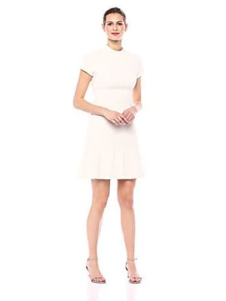 3e79792731 Lark   Ro Womens Short Sleeve Funnel Neck Fit and Flare Dress