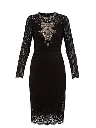 d1dd3d9c Dolce & Gabbana Crystal Embellished Guipure Lace Dress - Womens - Black