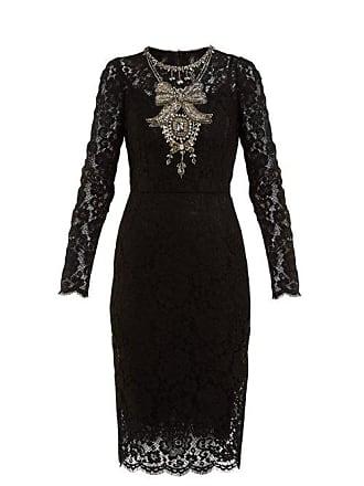 76adba1b Dolce & Gabbana Crystal Embellished Guipure Lace Dress - Womens - Black