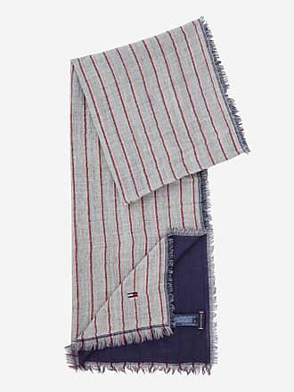 Tommy Hilfiger Echarpe double face en laine à rayures Gris Tommy Hilfiger d6d5e11468e