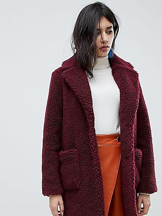 New Look Teddy Coat - Red