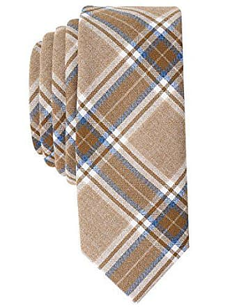 Original Penguin Mens Master Plaid Tie, taupe, One Size