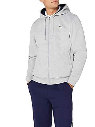 4abc3b4e490 Lacoste Sport - Sweat-shirt à Capuche Homme - Multicolore (Argent Chine  Marine