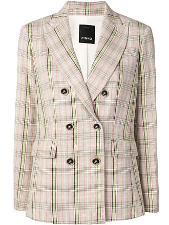 Pinko double breasted check blazer - Neutrals