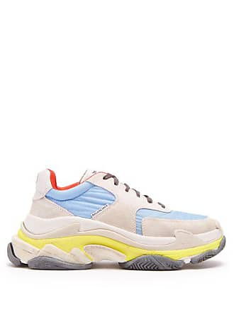 Balenciaga Triple S Low Top Trainers - Womens - Light Blue