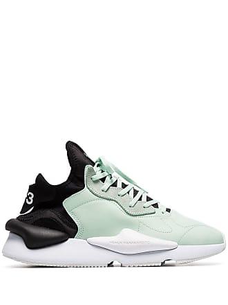 fee155e78 Yohji Yamamoto green and black kaiwa leather sneakers