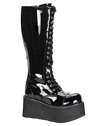 0b5f711e2afbf1 Demonia Trashville-502 - Gothic Punk Industrial Plateau Stiefel Schuhe 36-46
