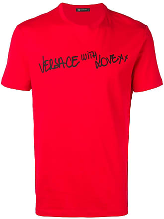 Versace Camiseta com estampa With Love - Vermelho