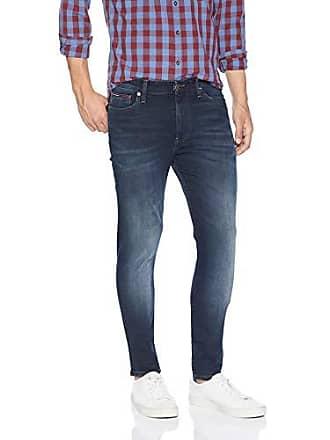 9c3367c7 Tommy Hilfiger Mens Original Simon Skinny Jeans, Chalk Dark Blue Stretch  34X34