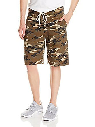 Alternative Mens Printed Light French Terry Victory Short, Camo, Medium