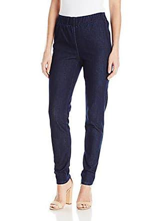 Joan Vass Womens Slim Ankle Demim Stretch Jean, Denim, S