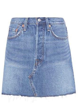 Levi's Saia Jeans Deconstructed Levis Womens - Azul