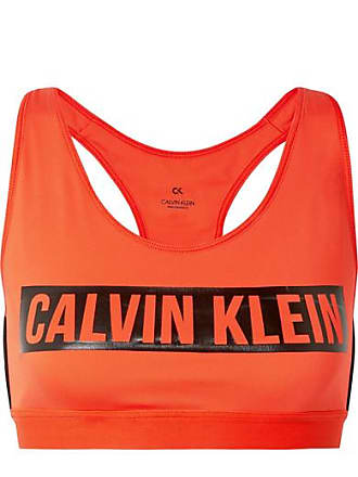 Calvin Klein Brassière De Sport Stretch Imprimée - Orange vif a620e30b85d