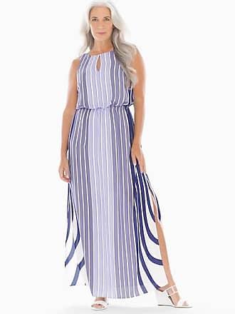 Soma Adrianna Papell Mixed Stripe Maxi Dress Purple Multi, Size 14