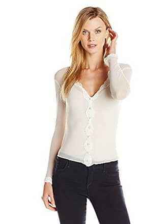 Only Hearts Womens Tulle W Lace Cardigan, Cream, Medium/Large
