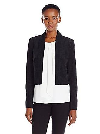 Calvin Klein Womens Denim Structured Shrug, Black, Medium