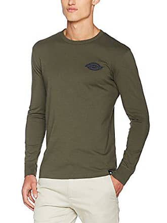 a2b966543e65 Dickies Pipersville Top à Manches Longues Homme Vert (Dark Olive) Medium  (Taille Fabricant