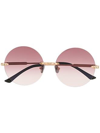 32f04d95c0 Anna-Karin Karlsson Crystal Nest Round sunglasses - Gold